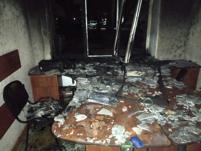 У Херсоні невідомі спалили офіс партії Шарія