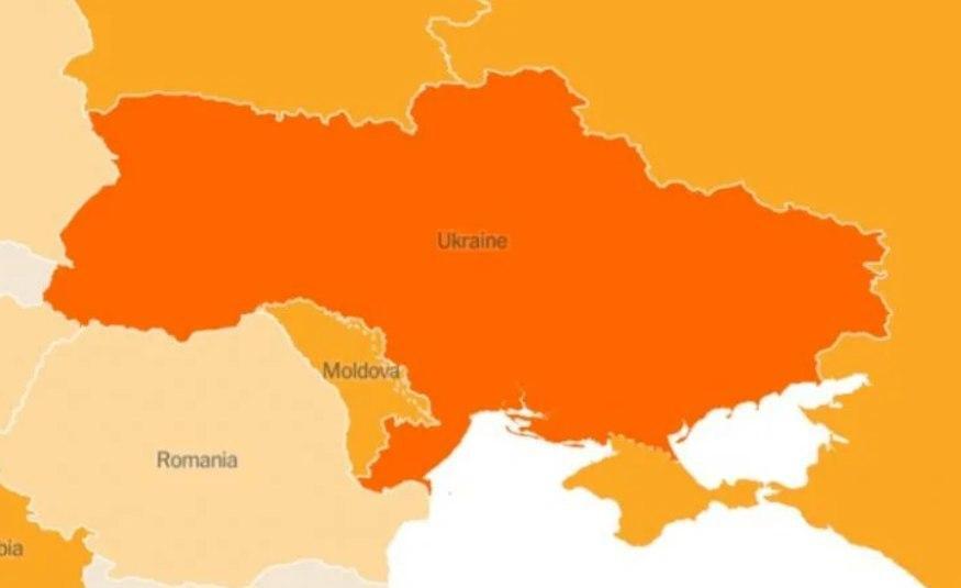 The New York Times опублікувало карту з російським Кримом - фото