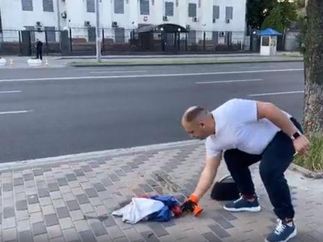 Спалювання супроводжував гімн України
