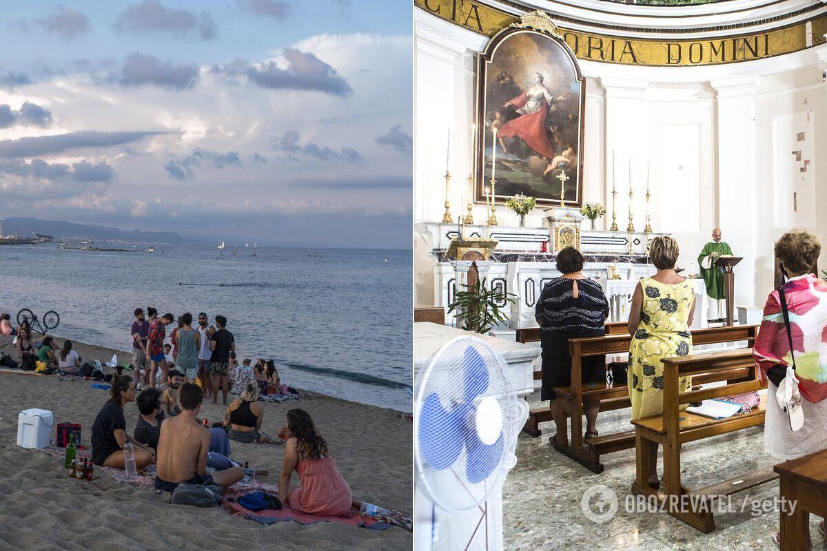 Відвідування пляжу менш ризиковане з погляду підхоплення COVID-19, ніж похід до церкви